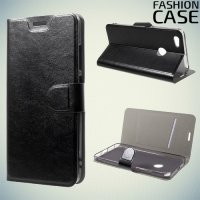 Fashion Case чехол книжка флип кейс для Xiaomi Redmi Note 5A 3/32GB - Черный