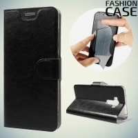 Fasion Case чехол книжка флип кейс для Asus ZenFone 3 Laser ZC551KL - Черный