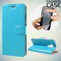 Fasion Case чехол книжка флип кейс для Asus ZenFone 3 Laser ZC551KL - Голубой