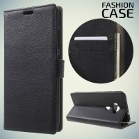 Fasion Case чехол книжка флип кейс для Asus Zenfone 3 ZE520KL - Черный