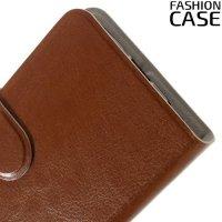 Fasion Case чехол книжка флип кейс для LG K3 k100ds - Коричневый