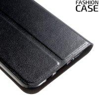 Fasion Case чехол книжка флип кейс для Samsung Galaxy J3 2017 SM-J327 - Черный