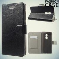 Fasion Case чехол книжка флип кейс для Xiaomi Redmi Note 4 - Черный