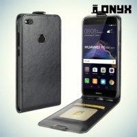 Флип чехол книжка для Huawei Honor 8 lite - Черный
