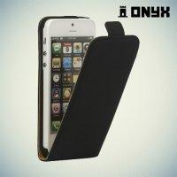 Флип чехол книжка для iPhone SE - Черный