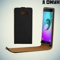 Флип чехол книжка для Samsung Galaxy A5 2016 SM-A510F - Черный
