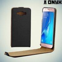 Флип чехол книжка для Samsung Galaxy J5 2016 SM-J510 - Черный