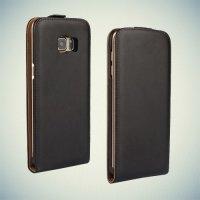 Флип чехол книжка для Samsung Galaxy S6 edge+ G928 Черный