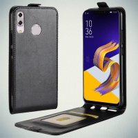 Флип чехол книжка вертикальная для Asus Zenfone 5 ZE620KL - Черный