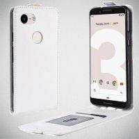 Флип чехол книжка вертикальная для Google Pixel 3a XL - Белый