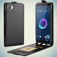Флип чехол книжка вертикальная для HTC Desire 12 - Черный
