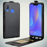 Флип чехол книжка вертикальная для Huawei P smart+ / Nova 3i - Черный