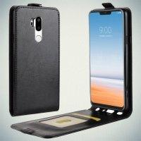 Флип чехол книжка вертикальная для LG G7 ThinQ - Черный
