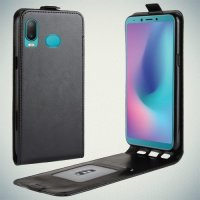 Флип чехол книжка вертикальная для Samsung Galaxy A6s - Черный