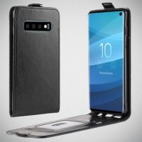 Флип чехол книжка вертикальная для Samsung Galaxy S10 - Черный