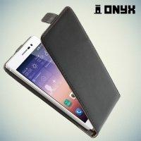 Флип чехол книжка для Huawei Ascend P7 - черный