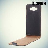 Флип чехол книжка для Samsung Galaxy A5 - черный