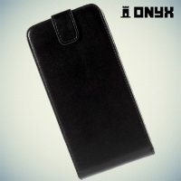 Флип чехол книжка для Samsung Galaxy A8 - черный