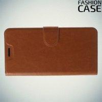 Flip Wallet чехол книжка для Asus Zenfone Max M2 ZB633KL - Коричневый