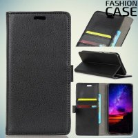 Flip Wallet чехол книжка для Asus Zenfone Max Pro (M1) ZB601KL - Черный