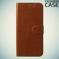 Flip Wallet чехол книжка для ASUS ZenFone Max Pro M1 ZB602KL - Коричневый