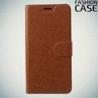 Flip Wallet чехол книжка для Asus Zenfone Max Pro M2 ZB631KL - Коричневый