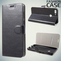 Flip Wallet чехол книжка для Huawei Y9 2018 - Черный