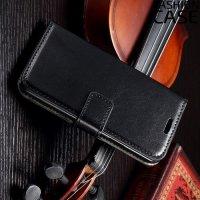 Flip Wallet чехол книжка для Samsung Galaxy A3 - Черный