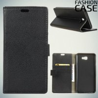 Flip Wallet чехол книжка для Samsung Galaxy J4 Plus - Черный