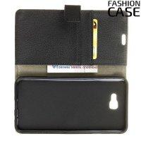 Flip Wallet чехол книжка для Samsung Galaxy J4 Plus - Черный