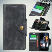 Flip Wallet чехол книжка для Samsung Galaxy J6 2018 SM-J600F - Черный