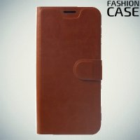 Flip Wallet чехол книжка для Xiaomi Redmi Note 6 / Note 6 Pro - Коричневый