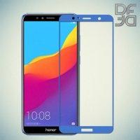 Full Glue Screen DF Защитное Закаленное Олеофобное Стекло для Huawei Honor 7A Pro / 7C / Y6 Prime 2018 синее