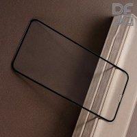 Full Glue Screen DF Защитное 3D Закаленное Олеофобное Стекло для iPhone XR черное