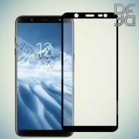 Full Glue Screen DF Защитное Закаленное Олеофобное Стекло для Samsung Galaxy J8 2018 черное