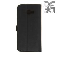 DF sFlip флип чехол книжка для Samsung Galaxy A3 2017 SM-A320F - Черный