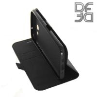 DF sFlip флип чехол книжка для Samsung Galaxy J3 2017 SM-J327  - Черный