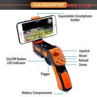 Геймпад джойстик пистолет AR для телефона Android iOS беспроводной Bluetooth для дополнительной реальности