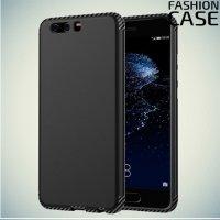 Гибридный матовый чехол для Huawei P10 Plus - Черный