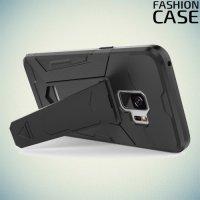 Гибридный матовый чехол для Samsung Galaxy S9 - Черный
