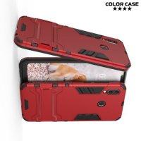 Hybrid Armor Ударопрочный чехол для Huawei Honor Play с подставкой - Красный