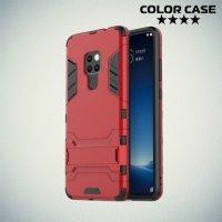 Hybrid Armor Ударопрочный чехол для Huawei Mate 20 с подставкой - Красный