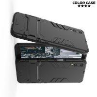 Hybrid Armor Ударопрочный чехол для Meizu E3 с подставкой - Черный