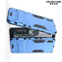 Hybrid Armor Ударопрочный чехол для Meizu E3 с подставкой - Голубой