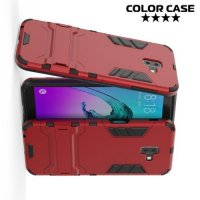 Hybrid Armor Ударопрочный чехол для Samsung Galaxy J6 Plus с подставкой - Красный