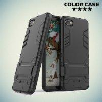 Hybrid Armor Ударопрочный чехол для Xiaomi Redmi 6a с подставкой - Черный