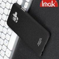 IMAK Cowboy Пластиковый чехол с кольцом подставкой и защитной пленкой для Samsung Galaxy A6 Plus 2018 - Песочно-Черный
