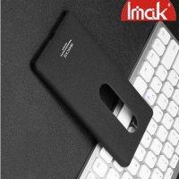 IMAK Cowboy Пластиковый чехол с кольцом подставкой и защитной пленкой для Sony Xperia XZ2 Premium - Песочно-Черный
