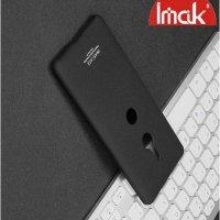 IMAK Cowboy Пластиковый чехол с кольцом подставкой для Sony Xperia XZ3 - Песочно-Черный