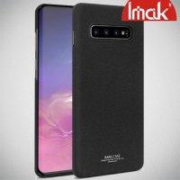 IMAK Cowboy Пластиковый чехол с защитной пленкой для Samsung Galaxy S10 - Песочно-Черный
